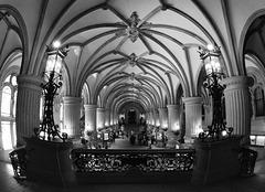 Eingangshalle im Hamburger Rathaus (5 x PiP)