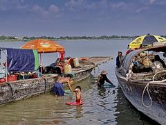 Sur les rives du Mékong
