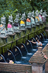 Holy bath in Tirta Taman Mumbul Sangeh