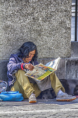 Reading on the street