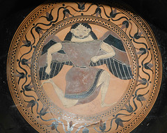 Detail of a Kylix- Siana Cup Attributed to the C Painter in the Metropolitan Museum of Art, March 2018