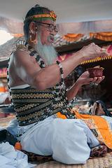 Ratu Pedanda at Tiga Bulanan festival