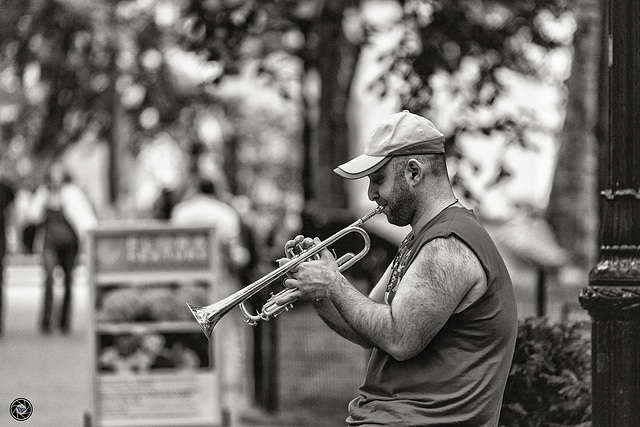 One man brass band