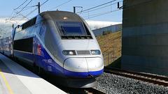 MEROUX: Gare TGV: Image récuperée depuis une vidéo 4K.