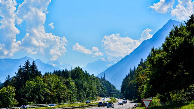 Auf den Weg zur Schweizer Alpen