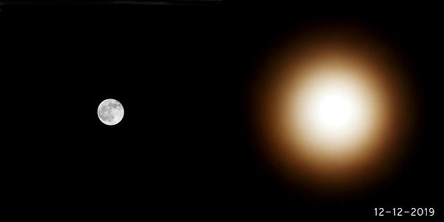 Mond mit Kranz