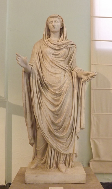 The So-Called Sybil, Portrait Statue of Octavia the Younger in the Naples Archaeological Museum, July 2012
