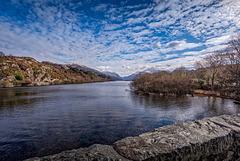 Wide view of Lake Padarn