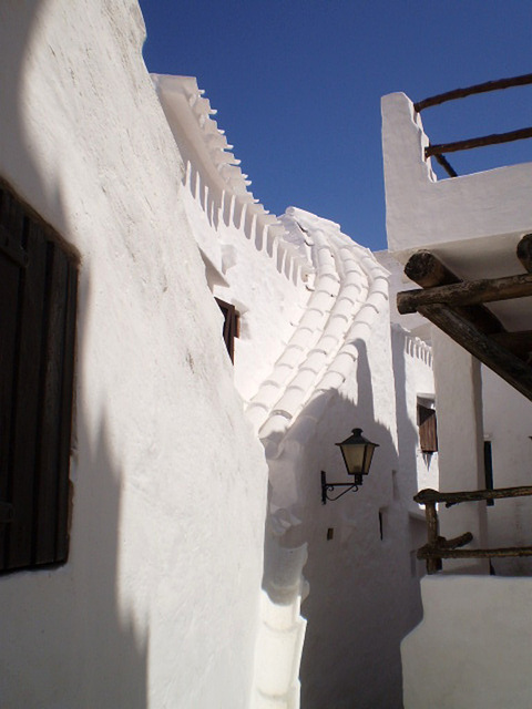 Immaculate white in Binibeca Vell.