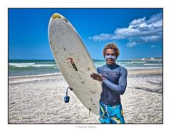 André, champion de surf