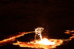 A Gigantic Spurt of Lava
