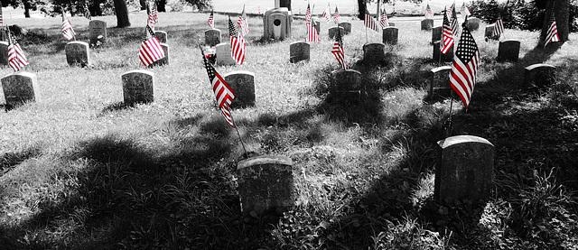 ...let us die to make men free...