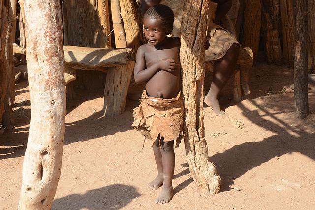Namibia, Damara Girl in the Damara Living Museum