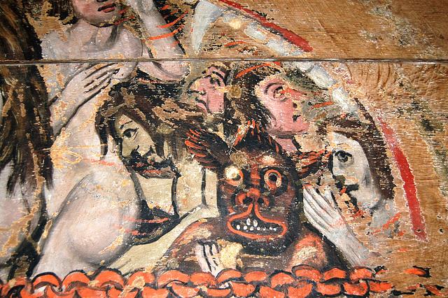 Detail of the Wenhaston Doom Painting, Saint Peter's Church, Wenhaston, Suffolk