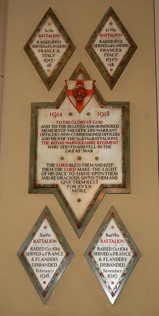 War Memorial, Birmingham Cathedral