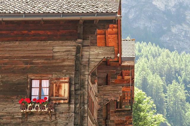 Evolène en été (Valais, Suisse)