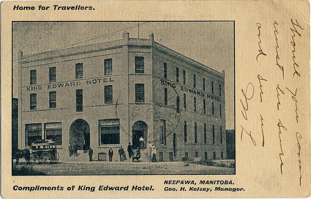 5430. King Edward Hotel, Neepawa, Manitoba.