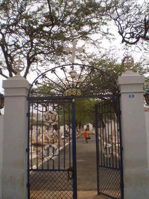 Cemetery gate (1888).
