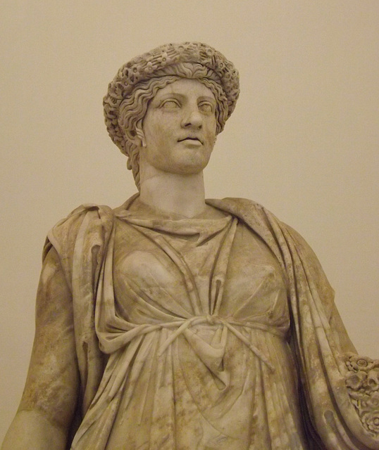 Detail of The So-Called Pomona or Flor Minor in the Naples Archaeological Museum, July 2012