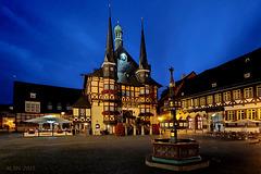 Wernigerode, Rathaus zur blauen Stunde