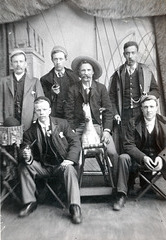 6 Men and a Rocking Horse, A West Yorkshire Cabinet Card of c1900