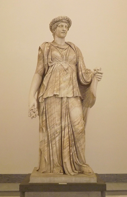 The So-Called Pomona or Flor Minor in the Naples Archaeological Museum, July 2012