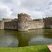Beaumaris castle and moat