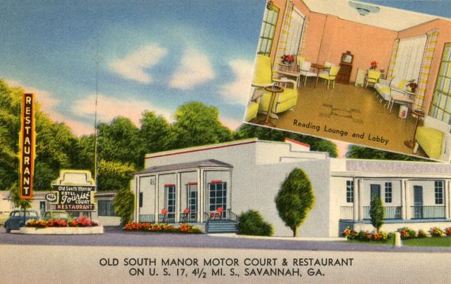 Old South Manor Motor Court and Restaurant, U.S. 17, Savannah, Georgia