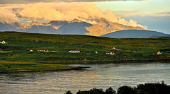The Cuillin aglow at sunset, Loch Caroy - Isle of Skye