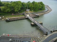 Swivel bridge over River Seiont.