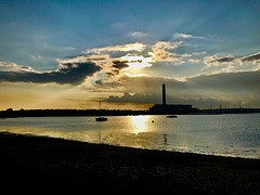 Sunset over Fawley Power Station