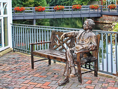 Mark Twain in Lüneburg ... Happy Bench Monday!
