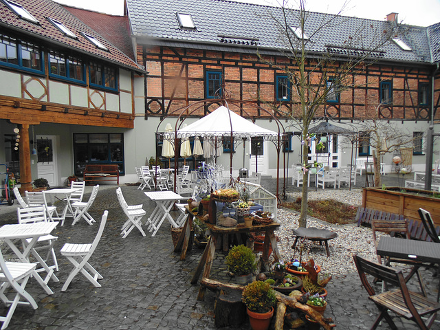 Innenhof vom Cafe Bergmann