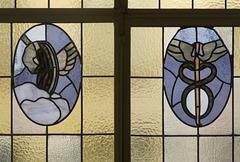 Glasfenster im Henneberg-Haus