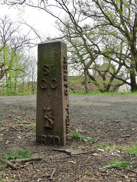 camberwell parish boundary marker, one tree hill