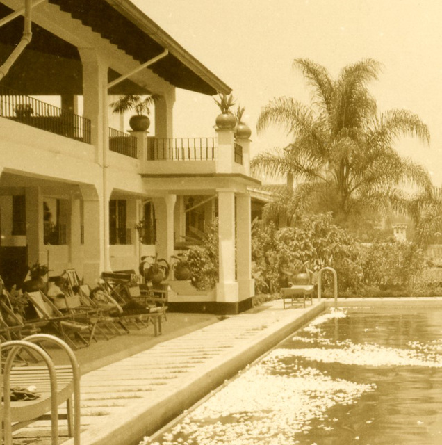 Gardenia Swimming Pool, Hotel Ruiz Galindo, Fortín, Veracruz, Mexico (Detail Left)