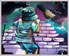 Peinture Sur le mur !bon samedi