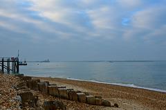 Hazy day on Southampton Water
