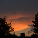 Sonnenuntergang mit Gewitterwolken