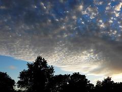 le beau ciel d'hier soir au coucher du soleil