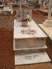 Cesária Évora's grave.