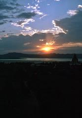 Sonnenuntergang in Bagan am Irrawady