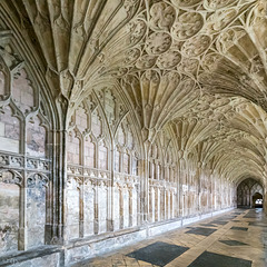Gloucester Cathedral: Cloisters (3xPiP)