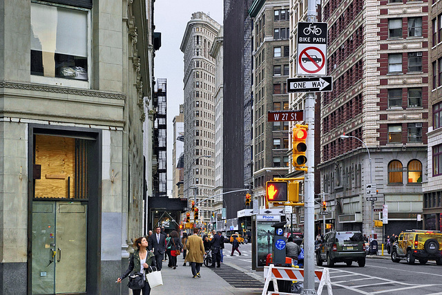 The Flatiron Building – Viewed from Broadway at 27th Street, New York, New York