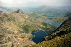 View from nr the summit of Snowdon