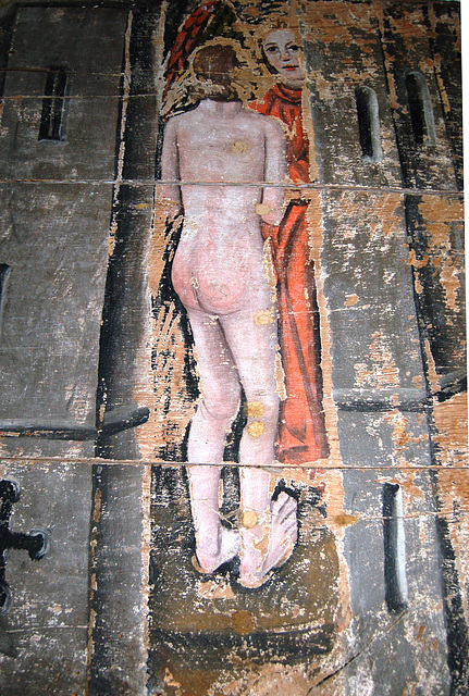 Detail of the Wenhaston Doom Painting, Saint Peter's Church, Wenhaston, Suffolk
