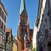 Schweriner Dom von der Buschstraße