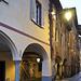 The arcades of the Piazzo, medieval village of Biella