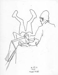 Walt drawing Nicole
