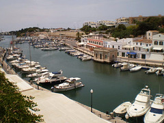 Ciutadella's narrow harbour.